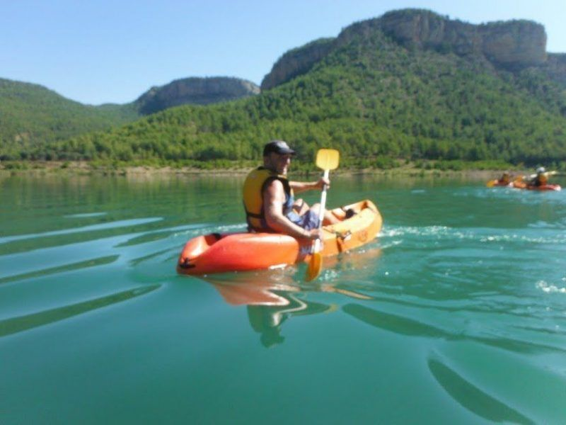 Kayak in the dam 2 with Somos Aventura